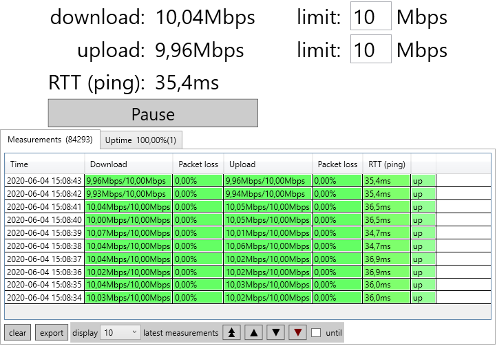 Jitter and packet loss test tool - free and open source